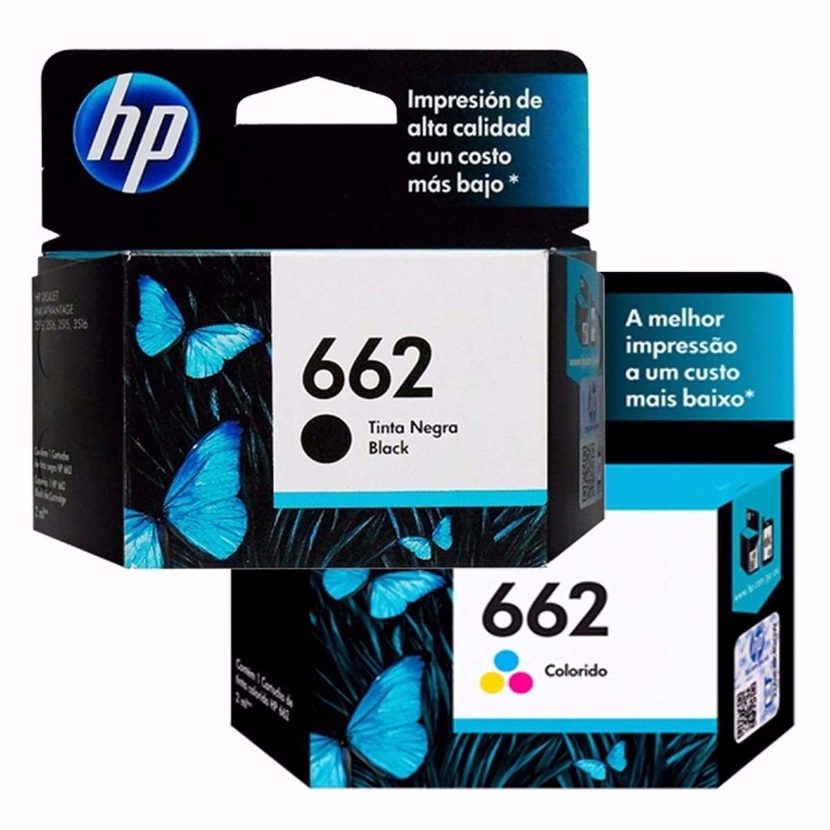 HP 622 BLACK AND TRI COLOR